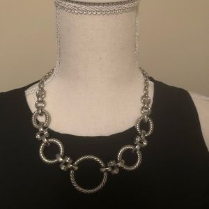 White House Black Market Silver Colored Necklace